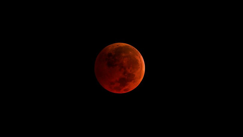Red coloured moon